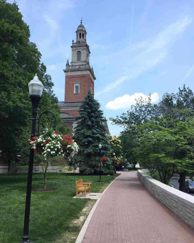 Denison University clock tower